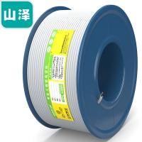 山泽(SAMZHE)C28BWG-4C 4芯单股纯铜电话线 RJ11电话连接线 工程家装语音布线 办公机房专用 150米/卷