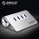 奥睿科(ORICO)USB分线器3.0高速扩展HUB集线器 台式笔记本电脑一拖四多接口转换器 全铝银M3H4