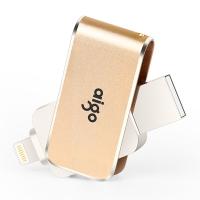 爱国者(aigo)128G苹果手机U盘USB3.0苹果官方MFI认证 iPhone和iPad双接口手机电脑用 金色