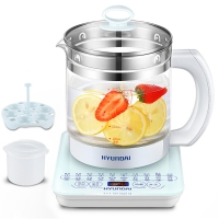 现代(HYUNDAI)养生壶多功能玻璃煮茶器BD-YS1801白