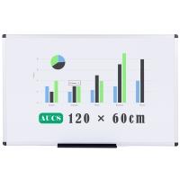 AUCS 120*60cm 磁性白板写字板 办公教学家用挂式白板 QUR1260L
