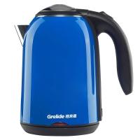 格来德(Grelide)电热水壶 304不锈钢烧水壶 双层防烫 WWK-D1513 1.7L容量电水壶(蓝色)