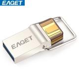 忆捷(EAGET)CU10 OTG 32G(USB3.0+Type-C 3.1双接口) 高速全金属手机U盘电脑通用珍珠镍色