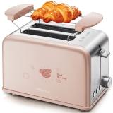 小熊(bear)多士炉家用2片 烤面包片机 吐司机早餐机 不锈钢 DSL-A02U1