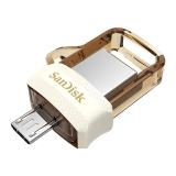 闪迪(SanDisk) 64GB 金色 至尊高速酷捷 OTG USB3.0 手机U盘 (micro-USB 和 USB双接口)