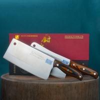鑫荣达手工锻打厨之品家用刀具两件套(切片刀+砍骨刀)厨之品