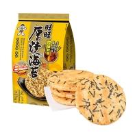 旺旺 厚烧海苔 饼干休闲零食168g