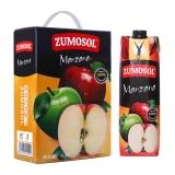 西班牙进口 NFC果汁 赞美诗(ZUMOSOL) 苹果汁100%纯果汁1L*2瓶 礼盒装