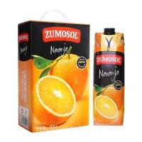 西班牙进口 NFC果汁 赞美诗(ZUMOSOL) 橙汁100%纯果汁1L*2瓶 礼盒装