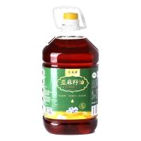 索米亚 物理压榨(月子炒菜用油)亚麻籽油 脱蜡胡麻油食用油5L