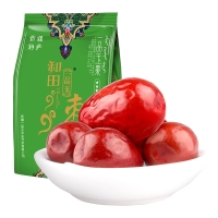 一品玉 和田大红枣五星218g 休闲零食 蜜饯果干 新疆特产 大枣