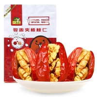 一品玉 和田红枣夹核桃仁168g 休闲零食 蜜饯果干 新疆特产 大枣夹核桃