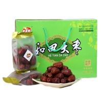 新疆特产 枣农园 果干 蜜饯 新疆和田大枣四星级礼盒1000g