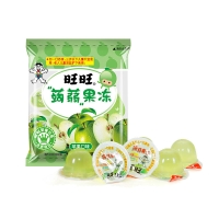 旺旺 零食蒟蒻果冻 儿童休闲零嘴 苹果味 (量贩包) 170g+30g
