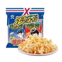 旺旺浪味仙组合装 膨化食品 零食薯片 蔬菜+番茄 420g