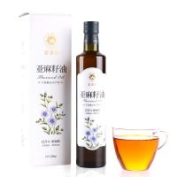 索米亚 冷榨一级亚麻籽油 脱蜡胡麻油月子食用油250ml