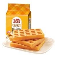 回头客 早餐休闲零食蛋糕 手撕软面包 原味华夫饼120g