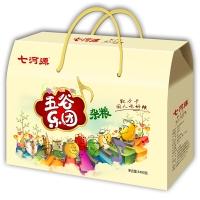七河源 五谷乐团 杂粮礼盒3490g(燕麦米、黄豆、小米、薏仁米、绿豆、红小豆、玉米糁、糙米)