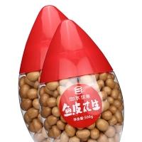 如水 坚果炒货 童年怀旧零食 鱼皮花生豆500g(新老包装随机发)