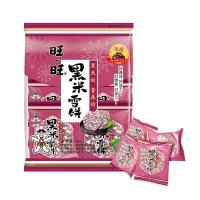 旺旺 黑米雪饼 膨化 休闲零食香脆米饼 饼干糕点 原味 84g