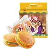 回头客 早餐夹心蛋糕零食 面包饼干 铜锣烧抹茶味160g