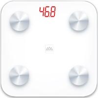 香山 電子秤 加大家用健康秤面 智能人體監測 體脂秤稱重 藍牙APP控制 EF866i (純白)