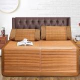 雅鹿·自由自在 凉席 床品家纺 竹席 竹藤席子 可折叠两用镜面单条席子 1.5米床 简约水墨席