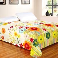 艾薇 床品家纺 单人床单单件纯棉被单1床/1.2床(万象更新152*210)