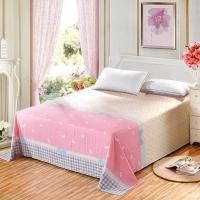 艾薇 床单家纺 纯棉被单 双人加大柔软全棉床单 单件 小清新 1.5米床 200*230cm
