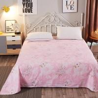 南極人 床單家紡 全棉印花床上用品 雙人純棉床單 嫣然一笑 230*245cm
