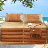 百富帝(byford)涼席竹席 雙面折疊雙人竹藤席子碳化清涼竹席1.5米 簡約雙面席A(不含枕套)
