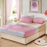 艾薇 床墊套保護罩雙人40支純棉斜紋防滑床笠1.5米床 小清新 150*200*25cm