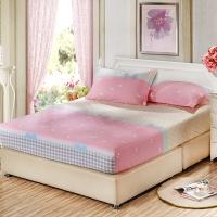 艾薇 床垫套保护罩双人40支纯棉斜纹防滑床笠1.5米床 小清新 150*200*25cm