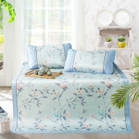 博洋家纺(BEYOND)席子 夏季空调双人加大可折叠凉席1.8米床 芸栖冰丝席三件套