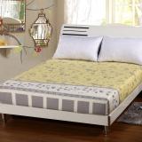 艾薇 床垫套保护罩双人40支纯棉斜纹防滑床笠1.5米床 新都市闲情 150*200CM