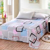 艾薇(AVIVI)床单学生单件纯棉40支斜纹宿舍被单单人床0.9米/1米床120 210(胭脂扣)