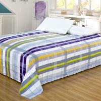艾薇 床品家纺 单人床单单件纯棉被单1床/1.2床(邂逅152*210)
