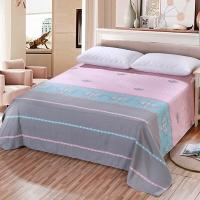 艾薇(AVIVI)床单单件纯棉40支斜纹印花被单加大单人床1.2床150 210罗曼蒂