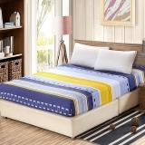 艾薇 床品家纺 单人床笠单件纯棉儿童床垫套防滑1.2床(长城格韵120*200*25)