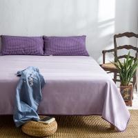 大朴(DAPU)凉席家纺 A类凉席 纯棉老粗布凉席三件套 山东老粗布工艺 紫色 1.8米床 210*230cm