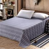 艾薇 床单家纺 全棉斜纹印花被单 双人纯棉床单 单件 索菲格 1.5/1.8米床 230*250cm