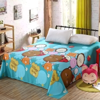 艾薇 床品家纺 双人床单单件纯棉被单1.5床/1.8床230*250(乐酷生活)