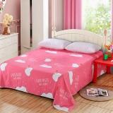 艾薇(AVIVI)床单单件纯棉40支斜纹印花被单加大单人床1.2床150 210威迪熊