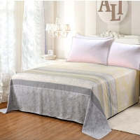 艾薇 床品家纺 单人床单单件纯棉被单1床/1.2床(美丽心情152*210)