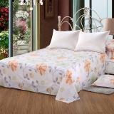 艾薇(AVIVI)床单单件纯棉40支斜纹大被单双人床1.5米床200 230(夏日暖阳)