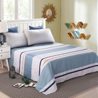 艾薇 床单家纺 纯棉被单 双人加大柔软全棉床单 单件 北美印象 1.5/1.8米床 230*250cm