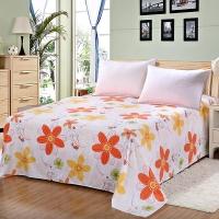 艾薇家纺床单单件纯棉40支斜纹卡通单人被单1.2床星缘150*210CM