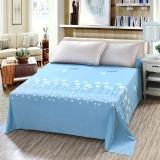 艾薇 床单家纺 纯棉被单 双人加大柔软全棉床单 单件 图拉朵蓝 1.5/1.8米床 230*250cm