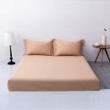 佳佰 床单 单件 床上用品 全棉贡缎60支纯色简约时尚 卡其色 适用2.0米双人床(245*270)