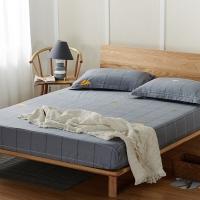 浪莎 床品家紡 全棉可水洗床笠單件席夢思保護套防滑床罩單雙人床墊罩床套 隨想曲 150*200cm